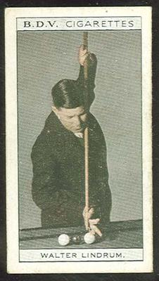 Trade card featuring Walter Lindrum c1930s