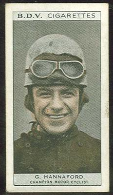 Trade card featuring George Hannaford c1930s