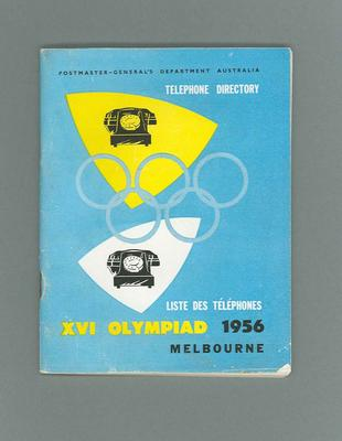 Telephone directory, 1956 Olympic Games