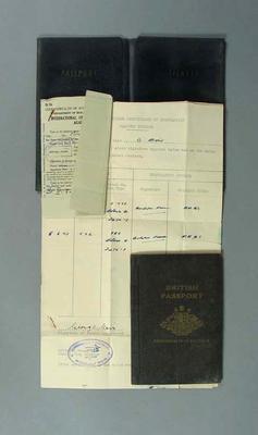 British passport, issued to George Moir