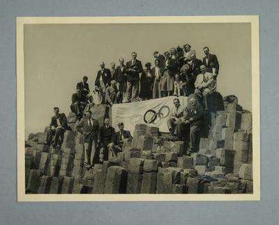 Photograph of Australian & New Zealand Olympic Games teams at Giant's Causeway, 1952
