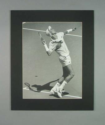 Photograph of tennis player Ivan Lendl, 1990 Australian Open; Photography; 2006.4527.8