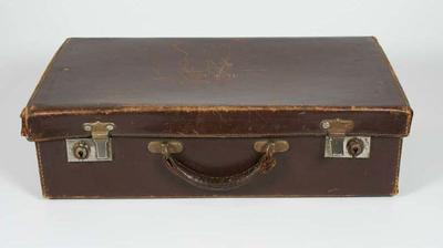 Brown leather suitcase, used by Doris Carter during the 1936 Berlin Olympic Games