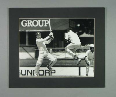 Photograph of Steve Waugh, Australia v Sri Lanka Test - Brisbane, Dec 1989