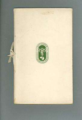 Booklet, 1956 Olympic Games organising committee progress report