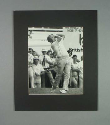 Photograph of golfer Jack Nicklaus, 1975 Australian Open; Photography; 2006.4527.11