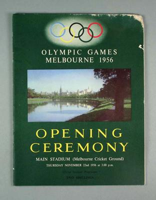 Souvenir programme, 1956 Olympic Games Opening Ceremony