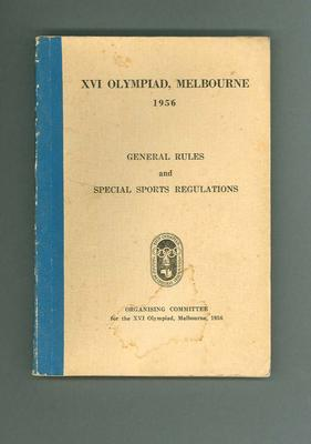 General rules and regulations for 1956 Olympic Games