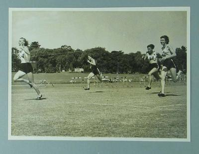 Photograph - depicts closing stages of 100 yards sprint heat 1, Australian Women's Track & Field Championships - Perth 1954
