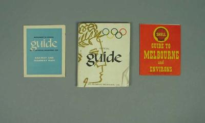 Official guide to 1956 Olympic Games; Documents and books; Documents and books; 1987.1627.367