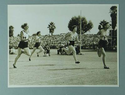 Photograph - depicts closing stages of 100 yards sprint final, Australian Women's Track & Field Championships - Perth 1954