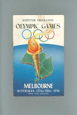 Souvenir programme, 1956 Olympic Games; Documents and books; 1987.1627.370