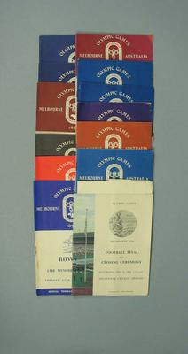 Thirteen programmes for 1956 Olympic Games events