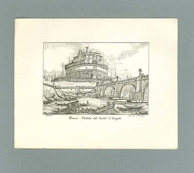 "Greeting card, ""Roma - Veduta del Castel S. Angelo"""