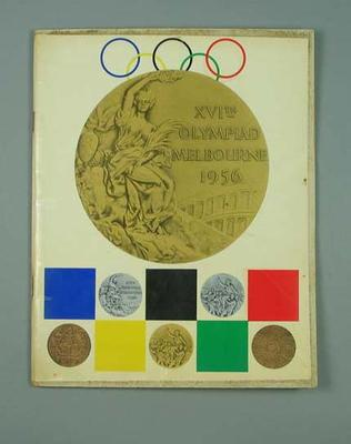 """Book, """"XVIth Olympiad Melbourne 1956"""""""