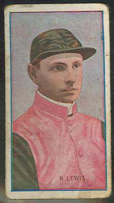 Trade card featuring R Lewis c1930s
