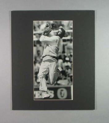 Photograph of Australian cricketer Dennis Lillee bowling, 1977; Photography; 2006.4527.32