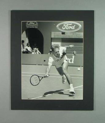 Photograph of tennis player Stefan Edberg, 1990 Australian Open
