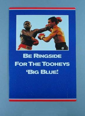 Brochure, Fenech v Nelson Tooheys Big Blue boxing bout 1992