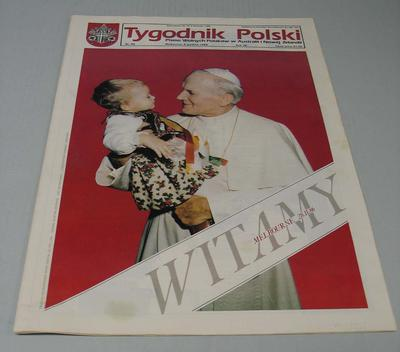 Copy of Polish newspaper, 1986 Papal Visit