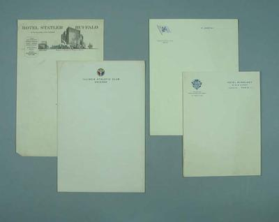 Various sheets of letterhead, c1930s