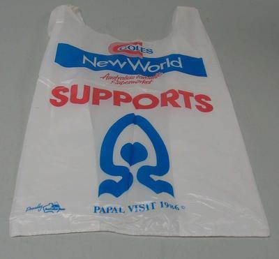 Plastic Coles bag, 1986 Papal Visit