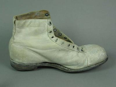 Cricket boot (left), worn by George Tribe