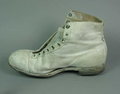 Cricket boot (right), worn by George Tribe