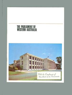 Booklet, The Parliament of Western Australia