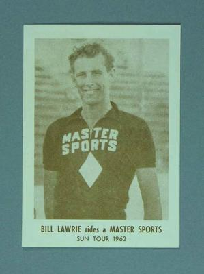 Photograph of Bill Lawrie, 1962; Photography; 1988.1981.70