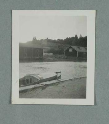 Photograph of a Finnish river, c1952