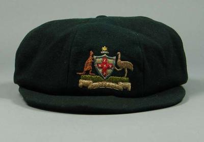 Cap worn by Harry Morris, 1928 Australian Olympic Games team