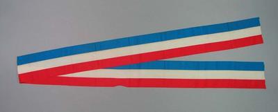 Sash - red, white & blue striped