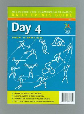 Programme - Events on Day 4 at the 2006 Melbourne Commonwealth Games