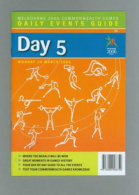 Programme - Events on Day 5 at the 2006 Melbourne Commonwealth Games