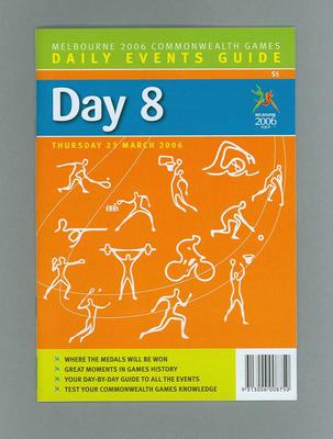 Programme - Events on Day 8 at the 2006 Melbourne Commonwealth Games