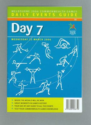 Programme - Events on Day 7 at the 2006 Melbourne Commonwealth Games