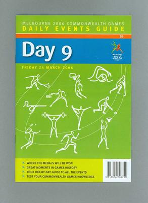 Programme - Events on Day 9 at the 2006 Melbourne Commonwealth Games