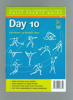 Programme - Events on Day 10 at the 2006 Melbourne Commonwealth Games