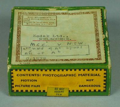 8mm film of MCC v NSW, 1930s; Audio-Visual; M15538