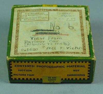 8mm film of Albury to Melbourne, Sydney Express and MCC v Vic, 1930s; Audio-Visual; M15539