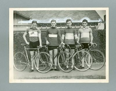 Photograph Footscray Cycling team, winners of V.A.C.V. Road Premiership Victoria June 1937; Photography; 2006.4592