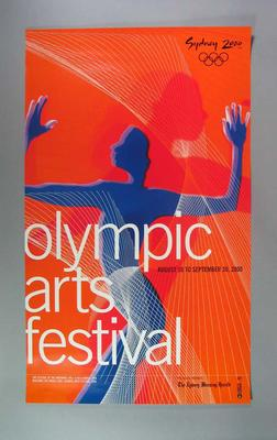 Poster, Sydney 2000 Olympic Arts Festival; Documents and books; 2002.3836.20