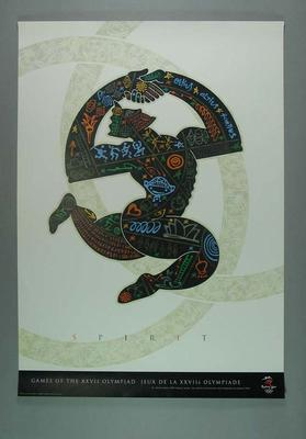 Sydney 2000 Olympic Games poster, designed by Mimmo Cozzolino & Phil Ellett