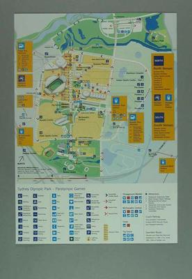 Map of Sydney Olympic Park, 2000 Paralympic Games