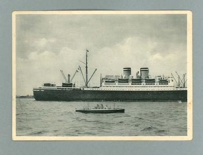 Postcard from Germany depicting boats, c1930s