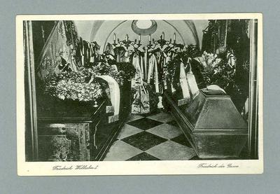 Postcard from Germany depicting a burial crypt, c1930s