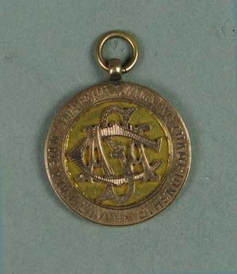 Gold medal won by Ivan Stedman, Australasian Amateur Swimming Championship 220 yards - 1920