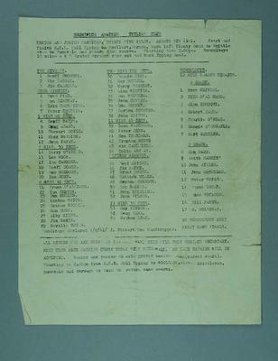 Documents associated with Brunswick Amateur Cycling Club, 1962-62