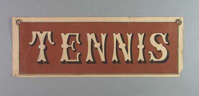 Paper label 'Tennis' - Part of Travelling Tennis Set c.1880